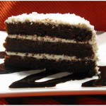 dark chocolate-coconut cake