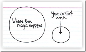 Escape your comfort zone with love