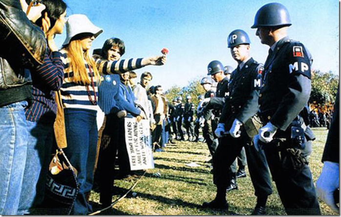 18. Arlington Virginia, 1967 - Flower Power during the vietnam war protests