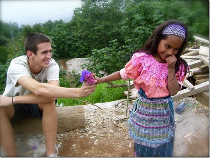This interaction between a Guatemalan girl and a tourist she just met.