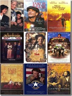 Robin Williams movie poster 9pk set 1