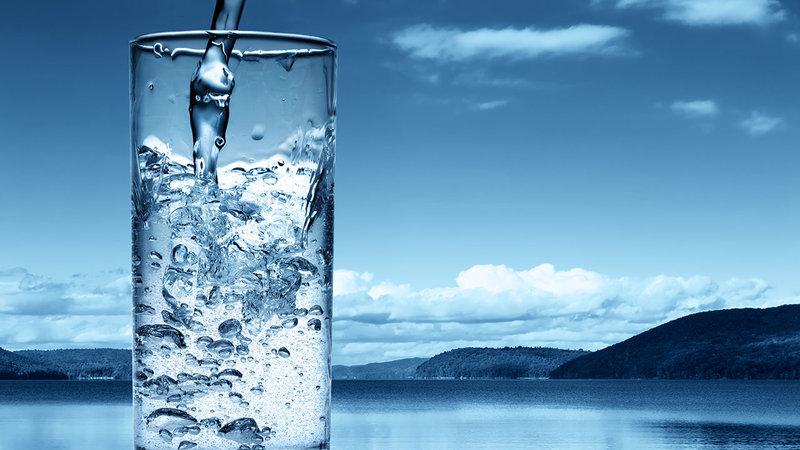 Vaso de agua fría
