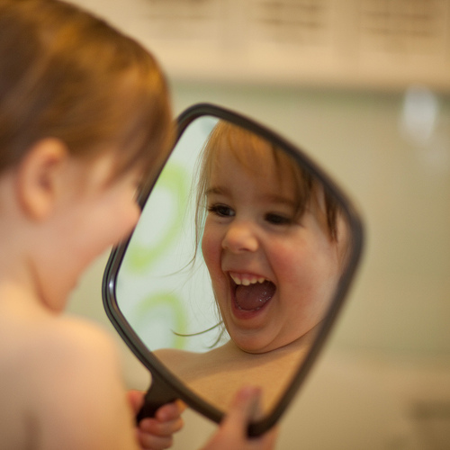 Image result for smile in the mirror