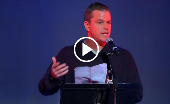 Matt Damon Shocking Speech Global Elite