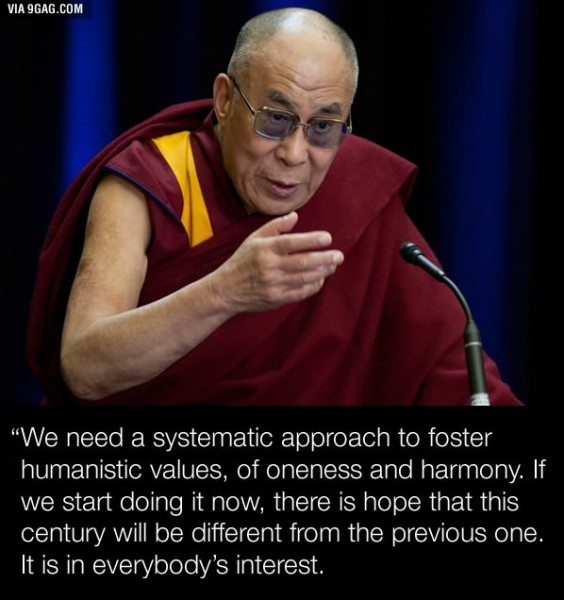 Dalai Lama says ACTION not PRAYING will help us 2