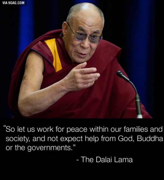 Dalai Lama says ACTION not PRAYING will help us 3