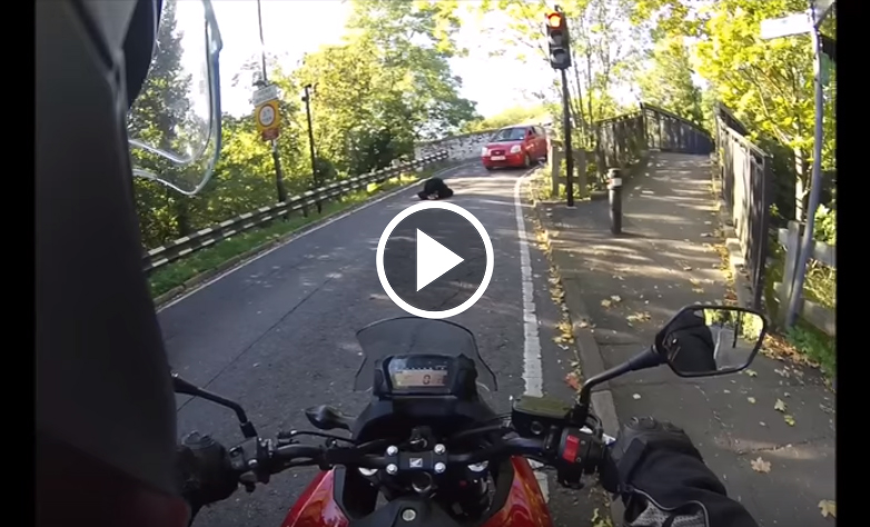 This Biker Notices The Bridge is Blocked. What Happens Next is a Matter of LIFE or DEATH!