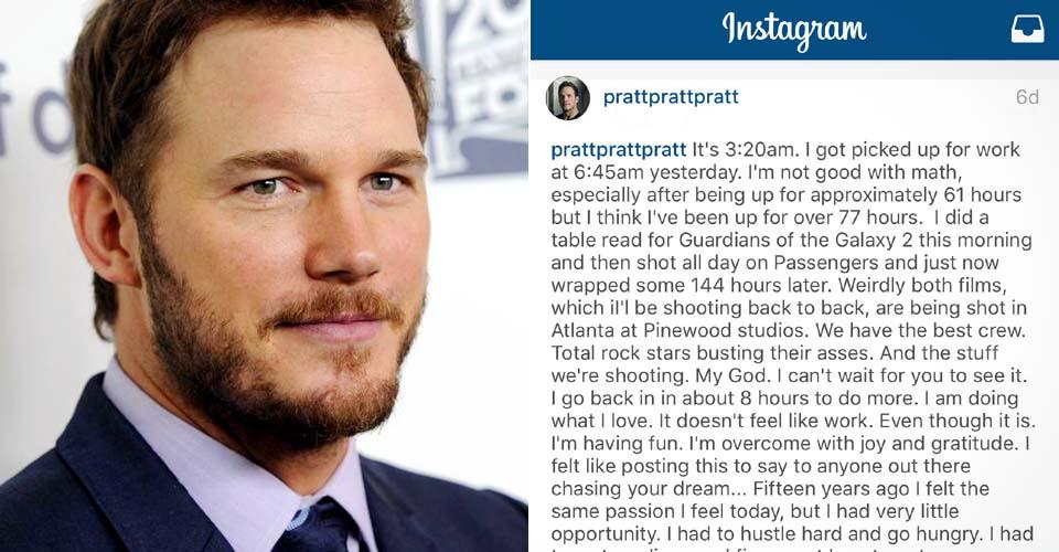 Chris Pratt Wrote On Instagram Inspire