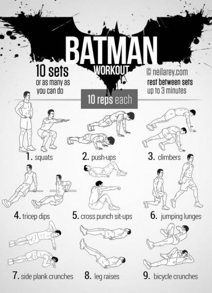 9 EXTRAORDINARY Exercises - Batman