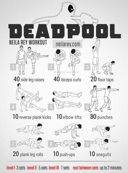9 EXTRAORDINARY Exercises - Deadpool