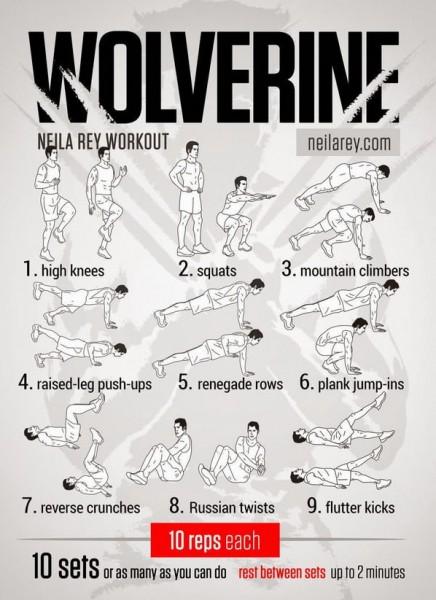 9 EXTRAORDINARY Exercises - Wolverine