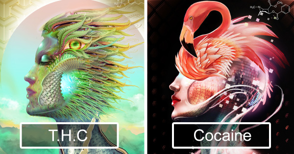 Artist Takes 20 Different Drugs And Creates 20 Illustrations To Show Their Effects