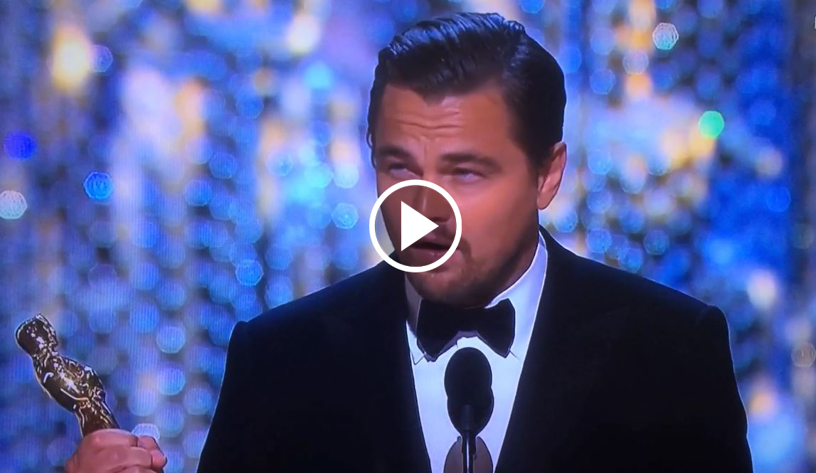 Leonardo DiCaprio FINALLY Won an Oscar but It was His Speech that SHOCKED The World!