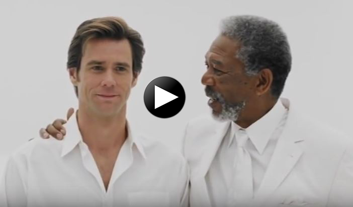 Jim Carrey And Morgan Freeman Will Teach You How God Wants Us To Pray In  Of The Most Powerful Scenes