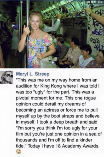 Meryl L. Streep Posted a POWERFUL Message about Her Struggle with Not Looking Beautiful