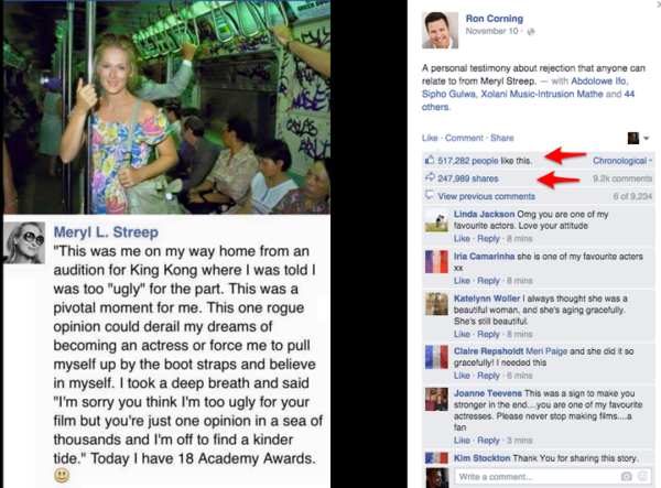 Meryl L. Streep Posted a POWERFUL Message about Her Struggle with Not Looking Beautiful 2