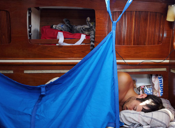 Couple Sells Everything to Live On A Bout and Travel The World 11
