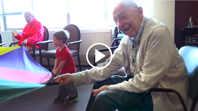 They Put A Pre-School In A Nursing Home And It Changed Everyone's Life