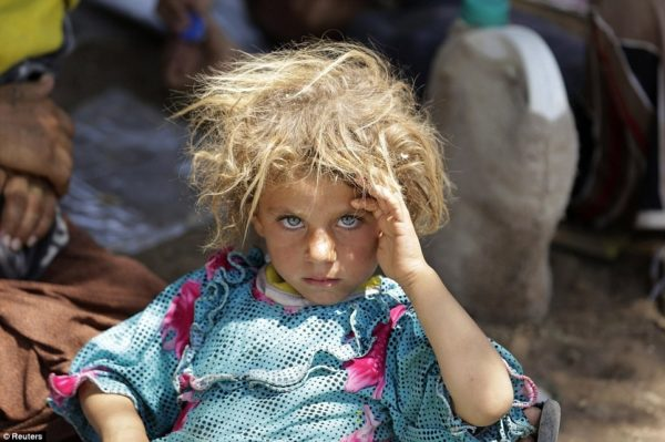 A minority girl from the Yazidi sect in Iraq.