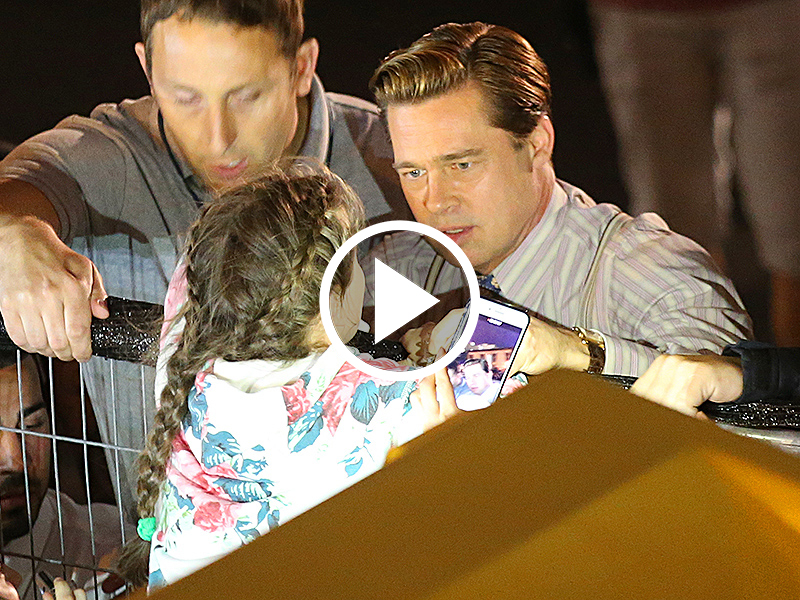 Brad Pitt HEROICALLY Rescues A Fan Girl