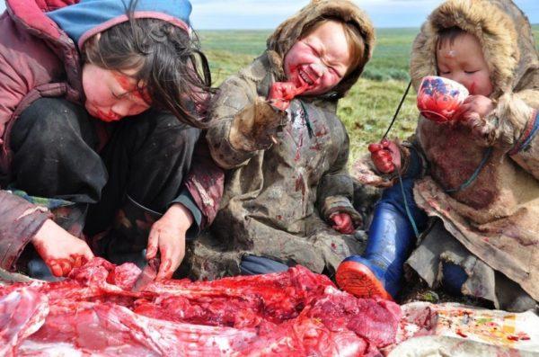 Family meal in Siberia.