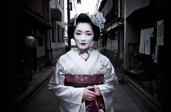 Geisha apprentice in Kyoto.