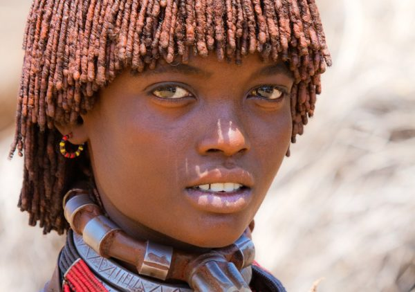 Girl from the Hamer tribe in Ethiopia.