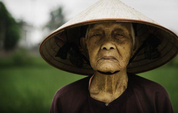 Rice farmer in Vietnam.