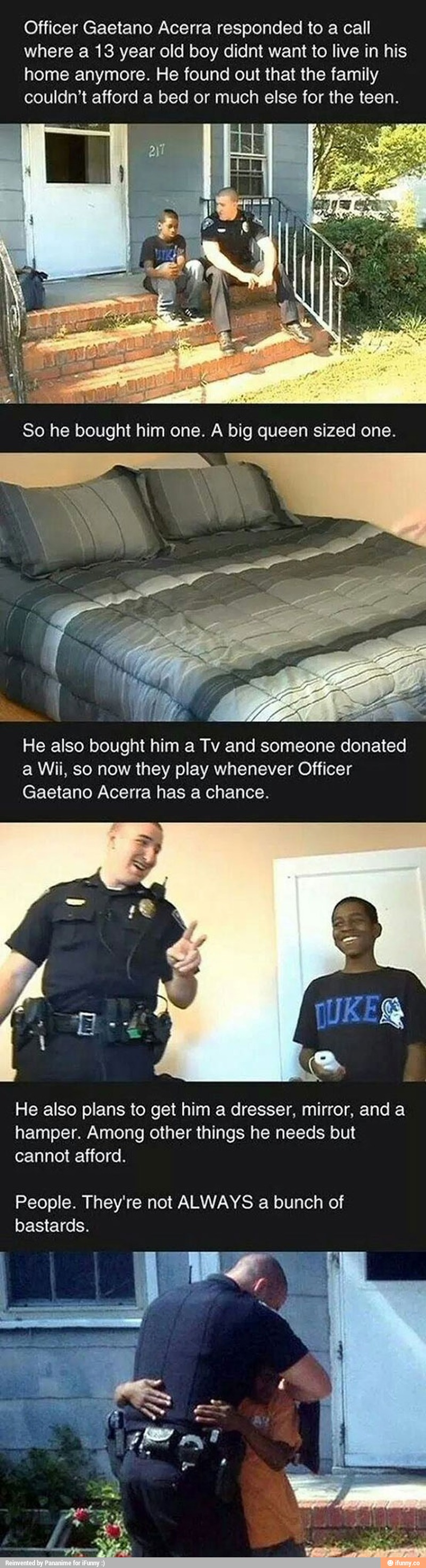 Not ALL cops are bastards, MOST of them are HEROES