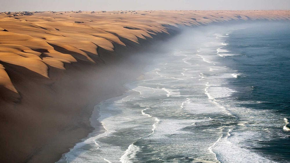 Where the Namib desert meets the Atlantic ocean