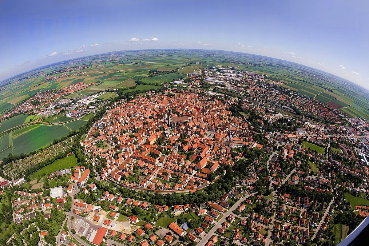 1. The Bavarian town of Nördlingen, which was built in a 14-million-year-old meteor impact crater.