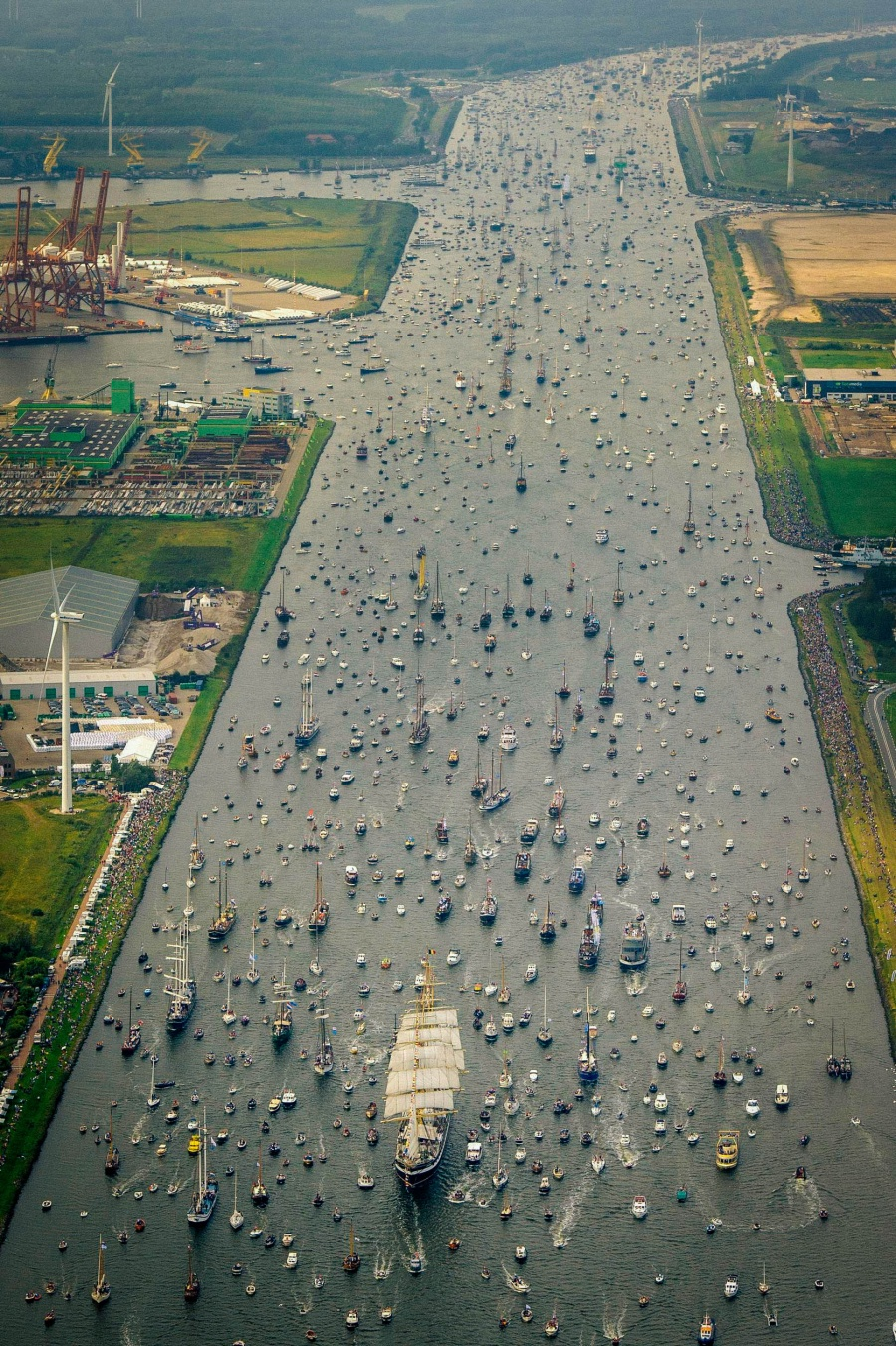 Astounding flotilla in Amsterdam